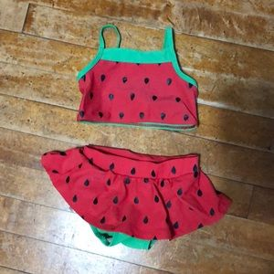 Watermelon girls' 2-piece Old Navy swimsuit